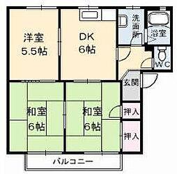 カルテット北斎院[2階]の間取り