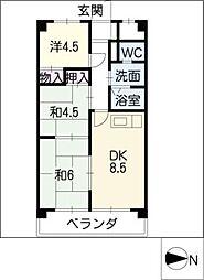 レジデンスナカノ1122[4階]の間取り