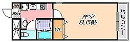 兵庫県神戸市灘区倉石通4丁目の賃貸マンションの間取り