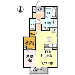 D−room西別所[1050号室]の間取り