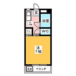 アリエ汐田II[3階]の間取り