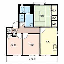兵庫県姫路市玉手3丁目の賃貸アパートの間取り