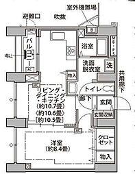 東京メトロ有楽町線 辰巳駅 徒歩9分の賃貸マンション 12階1LDKの間取り