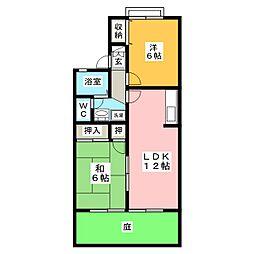 セジュールMATSUBARA[1階]の間取り