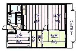 サン ウォーク I・II[2階]の間取り