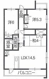 クレールカネシマII[1階]の間取り