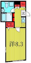 THE RESIDENCE tosima-chihaya 3階1Kの間取り