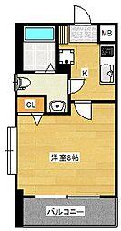 ピュアドーム博多21[8階]の間取り
