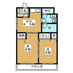 キャセロール青森II[4階]の間取り