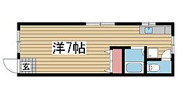 青木文化[106号室]の間取り