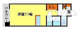 J.WAVE都府楼[2階]の間取り