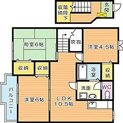 サンフォレスト B棟[2階]の間取り
