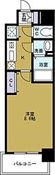 アドバンス大阪ベイパレス[7階]の間取り