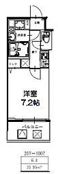 S-RESIDENCE新大阪Ridente[207号室号室]の間取り