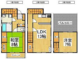 [一戸建] 埼玉県所沢市小手指台 の賃貸【/】の間取り