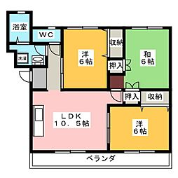 ドミール福島 A棟[1階]の間取り