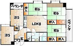 第15プリンスマンション[10階]の間取り