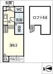 ハーモニーテラス三本松町[2階]の間取り