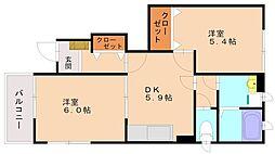 ラッフィナート1[1階]の間取り