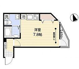 FERIO西蒲田 1階ワンルームの間取り