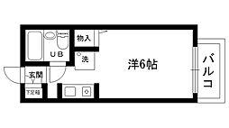 エクセルコート甲東園[203号室]の間取り