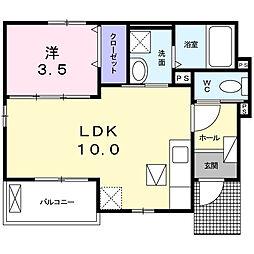 神奈川県海老名市勝瀬の賃貸アパートの間取り