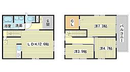 [一戸建] 兵庫県姫路市八代緑ヶ丘町 の賃貸【/】の間取り