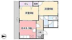 第2仲村マンション[101号室]の間取り