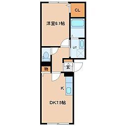 北海道札幌市東区北二十二条東3丁目の賃貸マンションの間取り