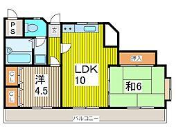 セザール西川口駅前[2階]の間取り