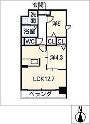 ドゥナーレ畑江通[4階]の間取り