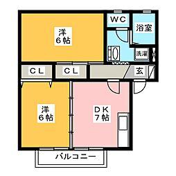 マグノリアA・B[2階]の間取り