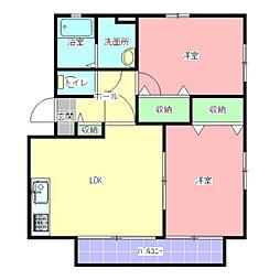 セレニティグレイスD棟[2階]の間取り