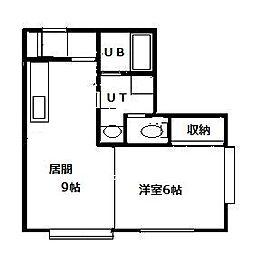 北海道札幌市南区澄川四条6丁目の賃貸アパートの間取り