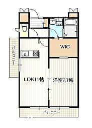 広島県廿日市市宮内の賃貸アパートの間取り