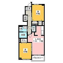パルテ・カナ−レV[1階]の間取り