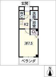 エトアール平針I[3階]の間取り