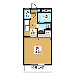 下東野コーポI[2階]の間取り