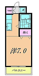 千葉県市川市湊の賃貸マンションの間取り