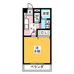 グリーンコート羽島[2階]の間取り
