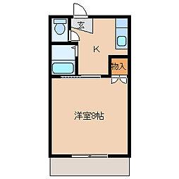 Y's room 花畑[B201号室]の間取り