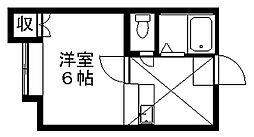シャトー牡丹山2[2階]の間取り