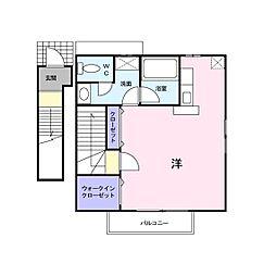 カーサ ラッフィナート[2階]の間取り