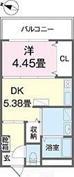 Cuore(クオーレ) 4階1DKの間取り
