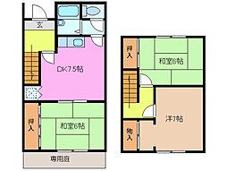 [テラスハウス] 三重県桑名市長島町十日外面 の賃貸【/】の間取り