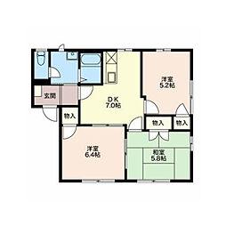 フレグランスWell A棟[1階]の間取り