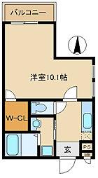 兵庫県尼崎市立花町1丁目の賃貸アパートの間取り