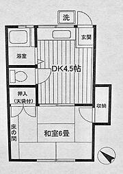 荻アパート[2階]の間取り