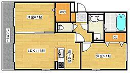 (仮)D−room仁保1丁目[102号室]の間取り