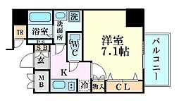 Osaka Metro御堂筋線 中津駅 徒歩7分の賃貸マンション 5階1Kの間取り